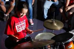 Student at the drums